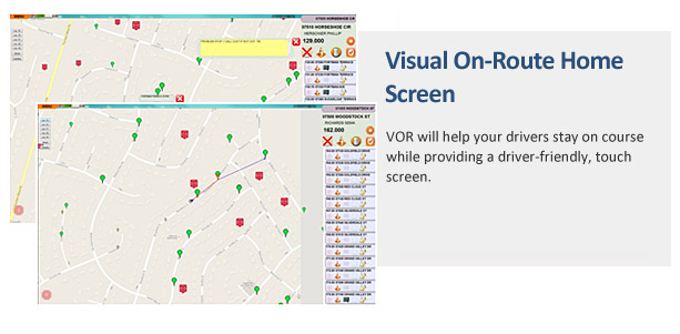 Visual On-Route Home Screen
