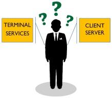 Questioning Man Terminal vs. Client Server?