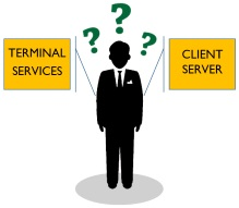 Questioning Man Terminal vs. Client Server?